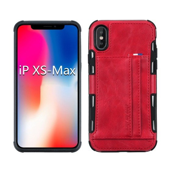 Etui Two Cards Hybrid Case iPhone XS Max 6.5 - Red