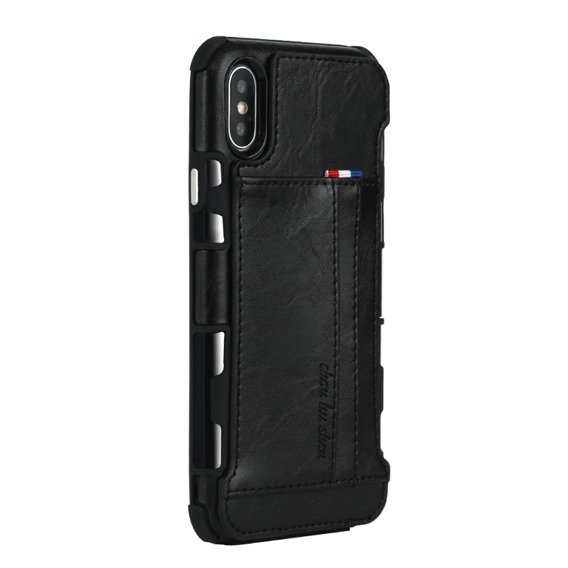 Etui Two Cards Hybrid Case iPhone XS / X 5.8 - Black