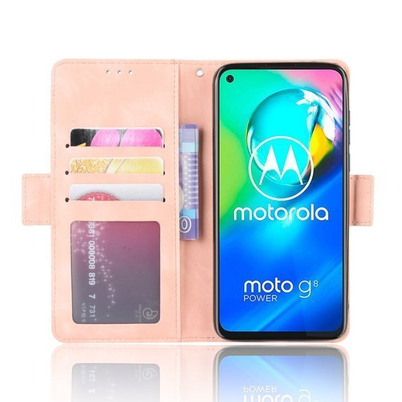 Etui Wallet Flexi Book do Motorola Moto G8 - Card Slot - Pink