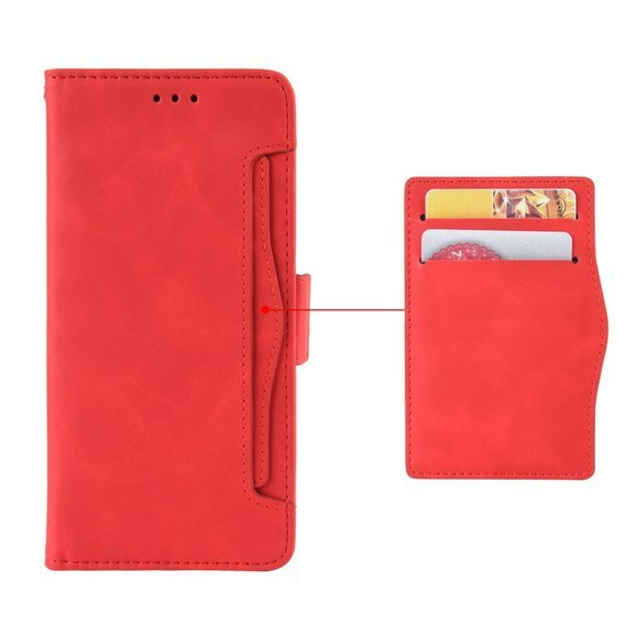Etui Wallet Flexi Book do Oppo A9 2020/A5 2020 - Card Slot - Red