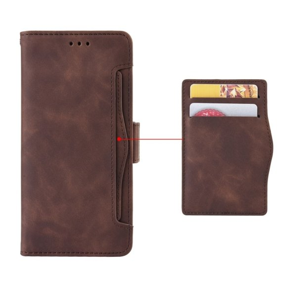 Etui Wallet Flexi Book do Xiaomi Redmi Note 8 Pro - Card Slot - Brown
