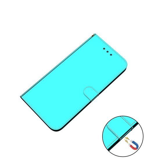 Etui Wallet Mirror do Huawei P40 Lite - Cyan