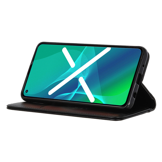 Etui Wallet do Honor 9X Lite - Litchi Leather - Black