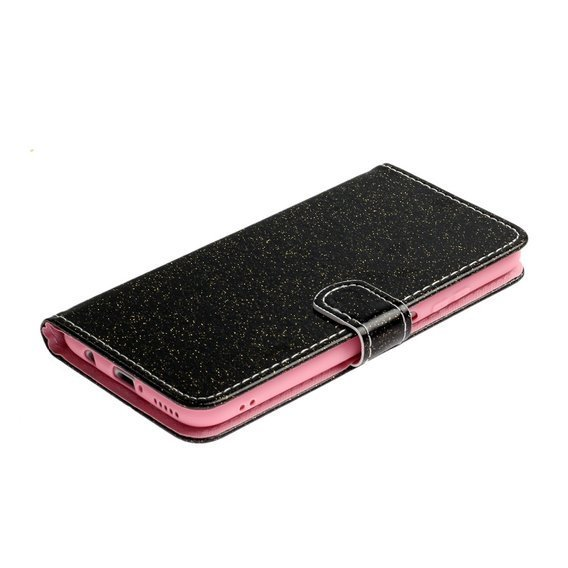 Etui Wallet do Huawei P40 Lite, Flash Powder, Black