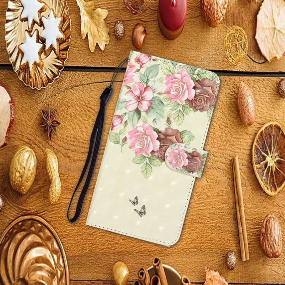 Etui Wallet do Huawei P40 - Pink Flower and Butterfly