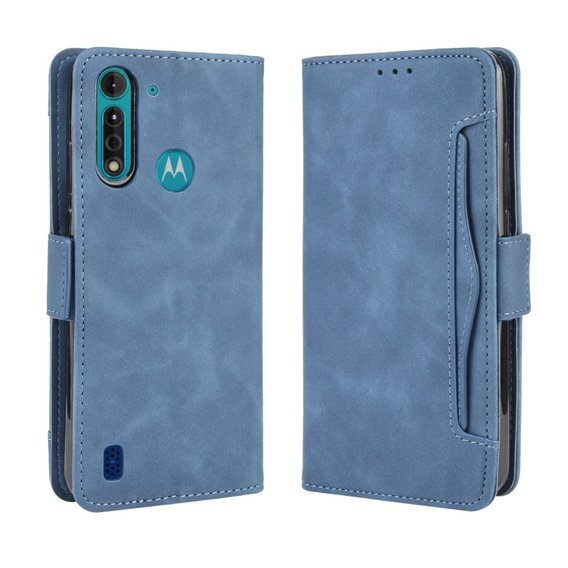 Etui Wallet do Motorola Moto G8 Power Lite - Card Slot - Blue