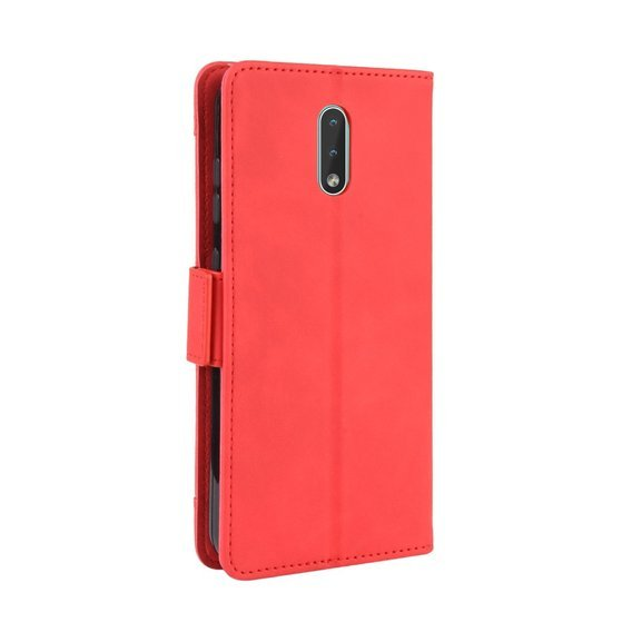 Etui Wallet do Nokia 2.3, Card Slot case, Red
