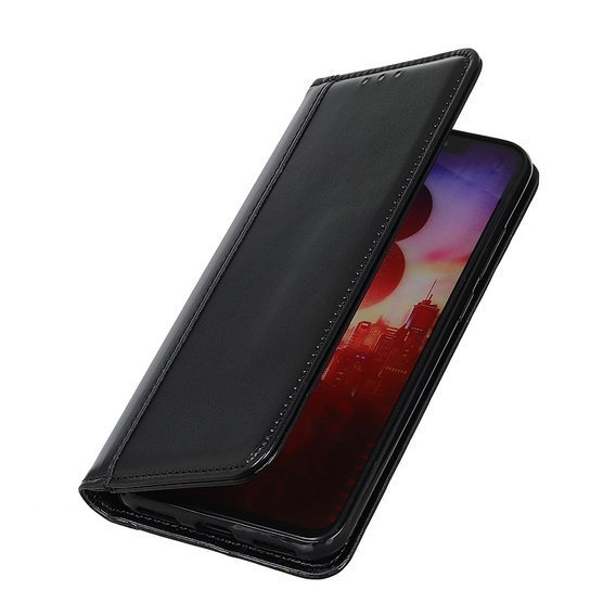 Etui Wallet do Nokia 8.3, Split Leather, Black