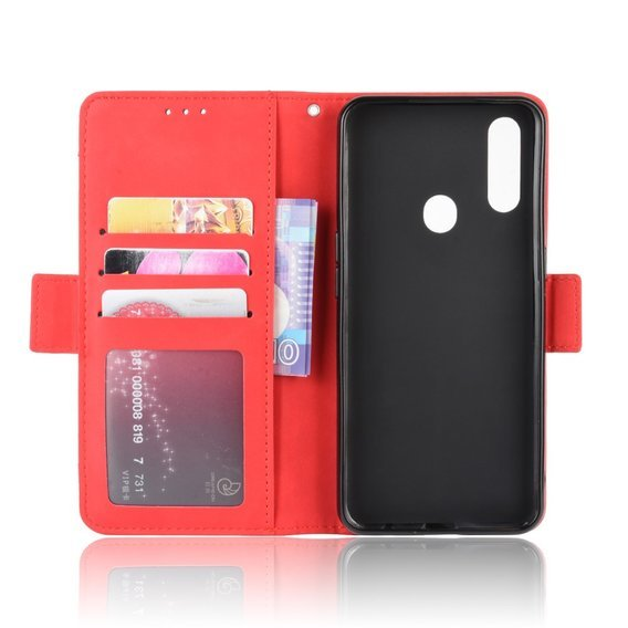 Etui Wallet do Oppo A8 / A31 2020, Card Slot, Red