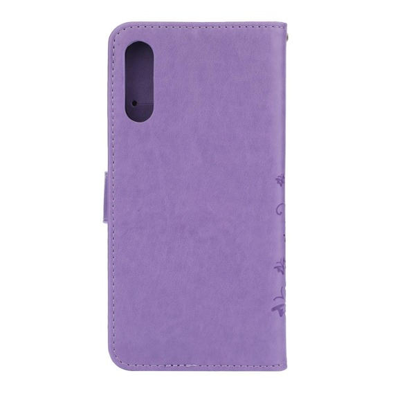Etui Wallet do Samsung Galaxy A50 / A30s, Butterfly, Purple