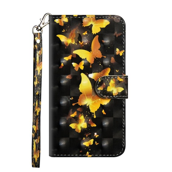 Etui Wallet do Samsung Galaxy A50 / A30s - Gold Butterflies