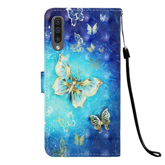 Etui Wallet do Samsung Galaxy A50 / A30s - Gold Butterfly