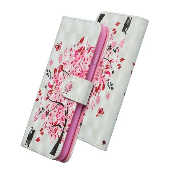 Etui Wallet do Samsung Galaxy A71 - Cat and Flower Tree