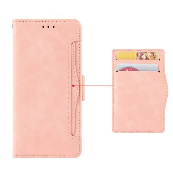 Etui Wallet do Xiaomi Redmi 9 - Card Slot - Pink