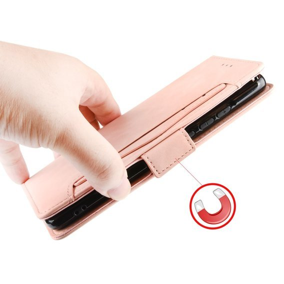 Etui Wallet do Xiaomi Redmi Note 8T, Card Slot, Pink