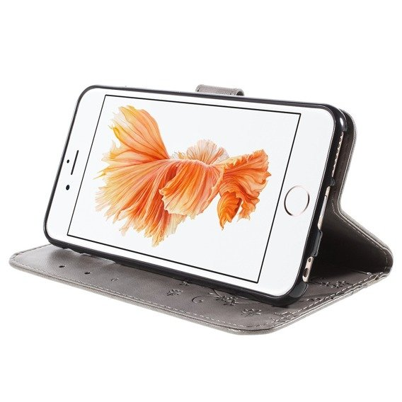 Etui Wallet do iPhone 6/6S 4.7 - Butterfly - Grey