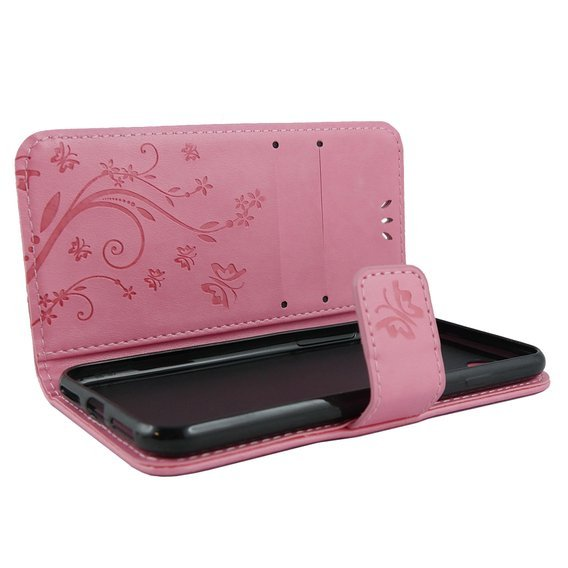 Etui Wallet do iPhone 6/6S 4.7 - Butterfly - Pink