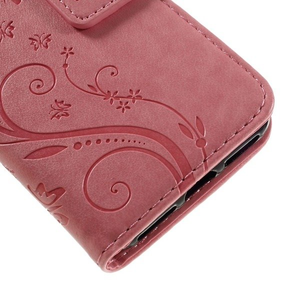 Etui Wallet do iPhone 7/8 - Butterfly - Pink