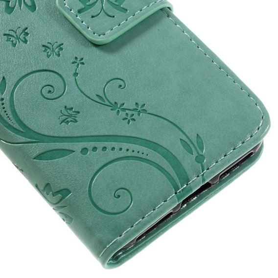 Etui Wallet do iPhone 7/8/SE 2020 - Butterfly - Green
