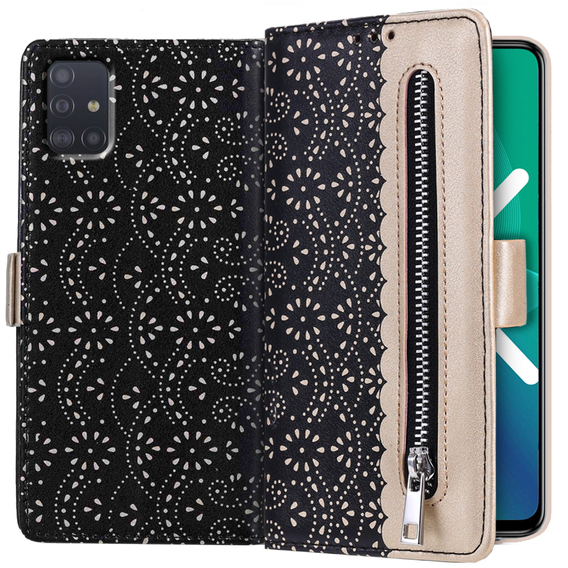Etui Zipper Pocket Wallet Case do Samsung Galaxy A51 - Black