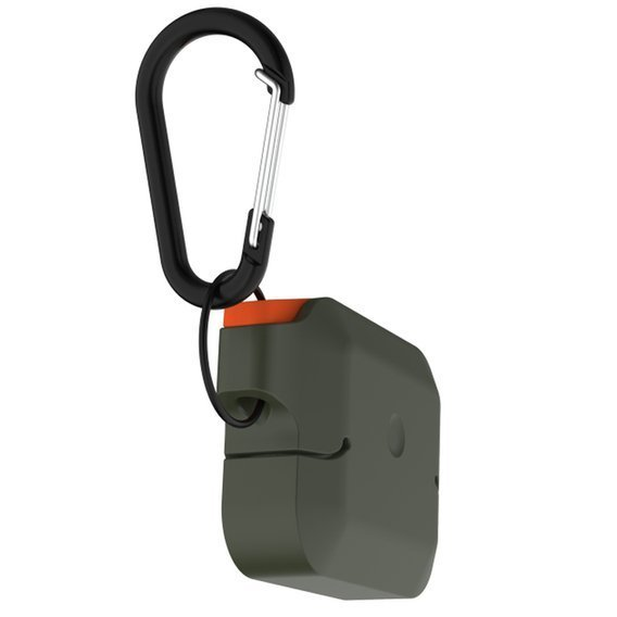 Etui do Airpods Pro - Urban Armor Gear - Silicone Case - Olive drab / Orange