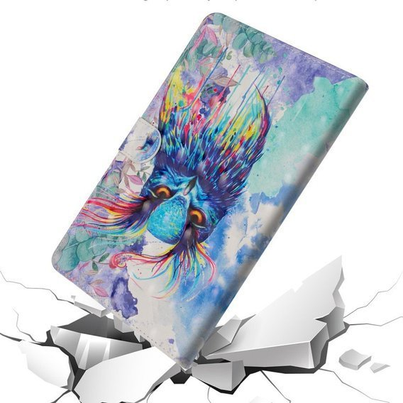 Etui do Amazon Kindle Paperwhite 1/2/3/4, Book Stand Case, Colorful Owl