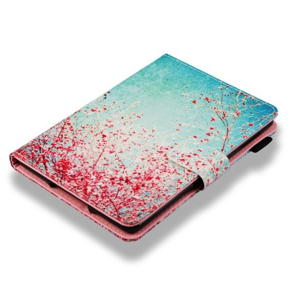 Etui do Amazon Kindle Paperwhite 4 2018, Book Stand Case, Flowering Tree