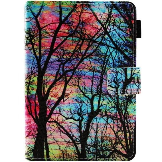 Etui do Amazon Kindle Paperwhite 4 2018, Book Stand Case, Trees