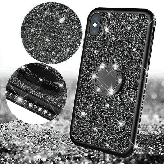 Etui do Apple iPhone X / XS - ERBORD Bling - Black
