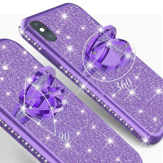 Etui do Apple iPhone X / XS - ERBORD Bling - Purple