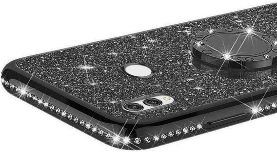 Etui do Huawei Honor 8x - ERBORD Bling - Black