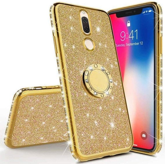 Etui do Huawei Mate 10 Lite - ERBORD Bling - gold