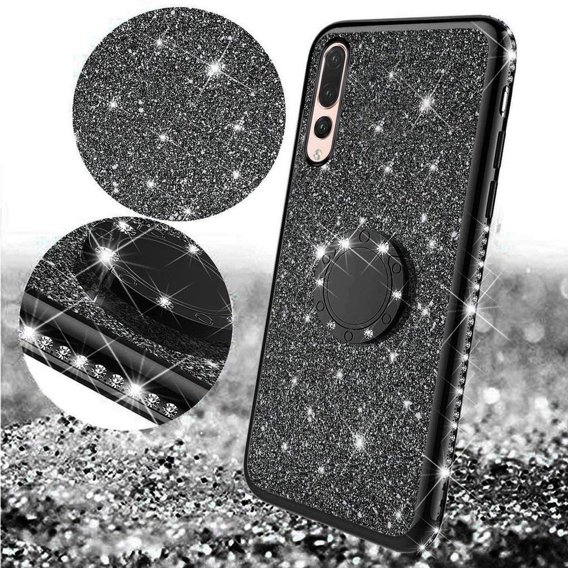 Etui do Huawei P20 Pro - ERBORD Bling - Black