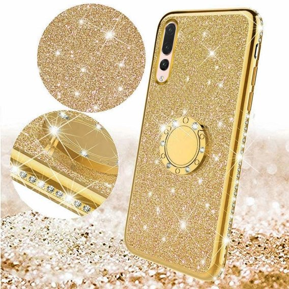 Etui do Huawei P20 Pro - ERBORD Bling - gold