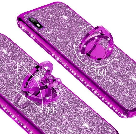 Etui do Huawei Y5 2019 - ERBORD Bling - Purple