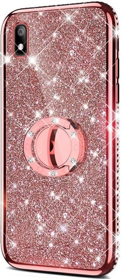 Etui do Huawei Y5 2019 - ERBORD Bling - Rose Gold