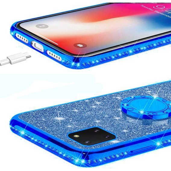 Etui do Huawei Y5P - ERBORD Bling - Blue
