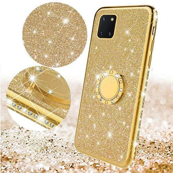 Etui do Huawei Y5P - ERBORD Bling - Gold