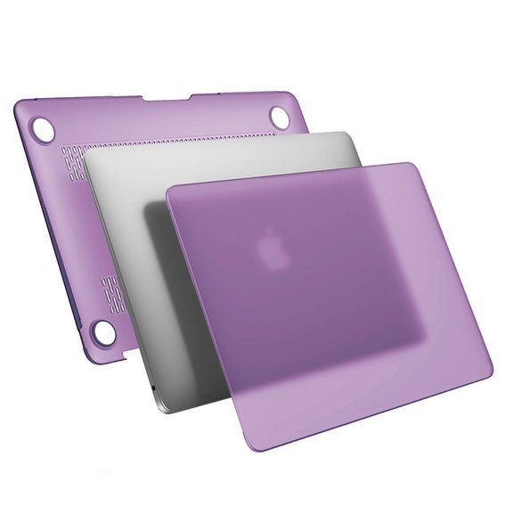 Etui do Macbook Air 13.3, Hard Case, Translucent Purple