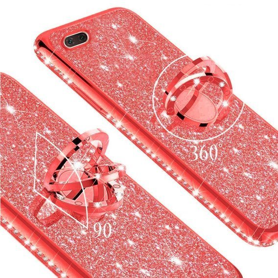 Etui do OPPO A1K - ERBORD Bling - Red