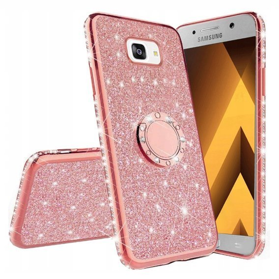 Etui do Samsung Galaxy A5 2017 - ERBORD Bling - Rose Gold