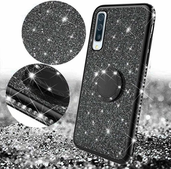 Etui do Samsung Galaxy A50 - ERBORD Bling - Black