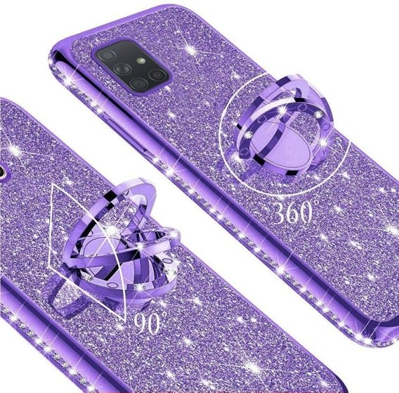 Etui do Samsung Galaxy A51 - ERBORD Bling - Purple