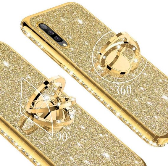 Etui do Samsung Galaxy A7 2018 - ERBORD Bling - Gold