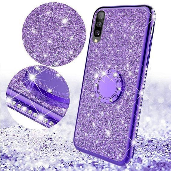 Etui do Samsung Galaxy A70 - ERBORD Bling - Purple