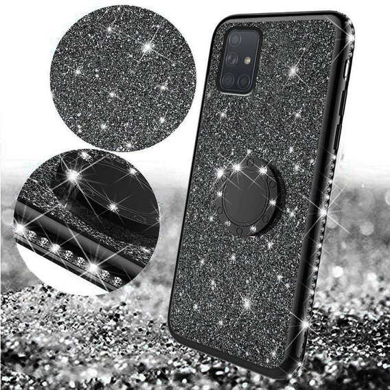 Etui do Samsung Galaxy A71 - ERBORD Bling - Black