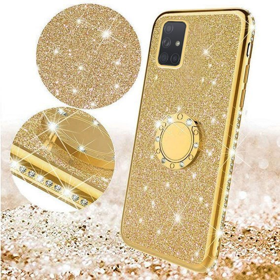 Etui do Samsung Galaxy A71 - ERBORD Bling - Gold