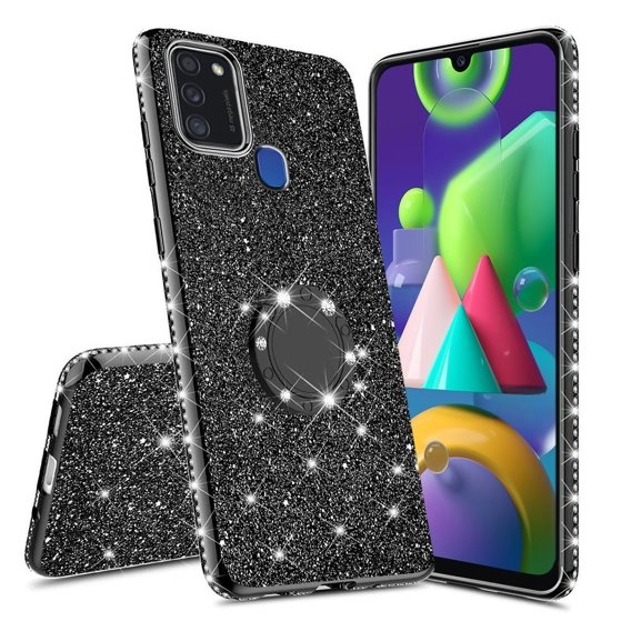 Etui do Samsung Galaxy M31 - ERBORD Bling - Black
