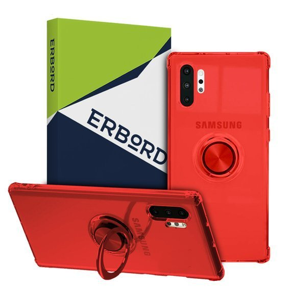 Etui do Samsung Galaxy Note 10 - ERBORD Airbag Ring - Red