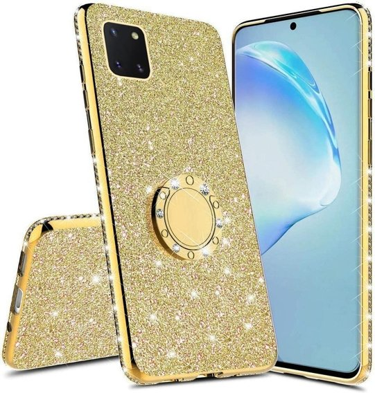 Etui do Samsung Galaxy Note 10 Lite - ERBORD Bling - Gold